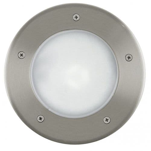 Eglo Outdoor 86189 Riga 3 Outdoor Ground Recessed Light Stainless Steel